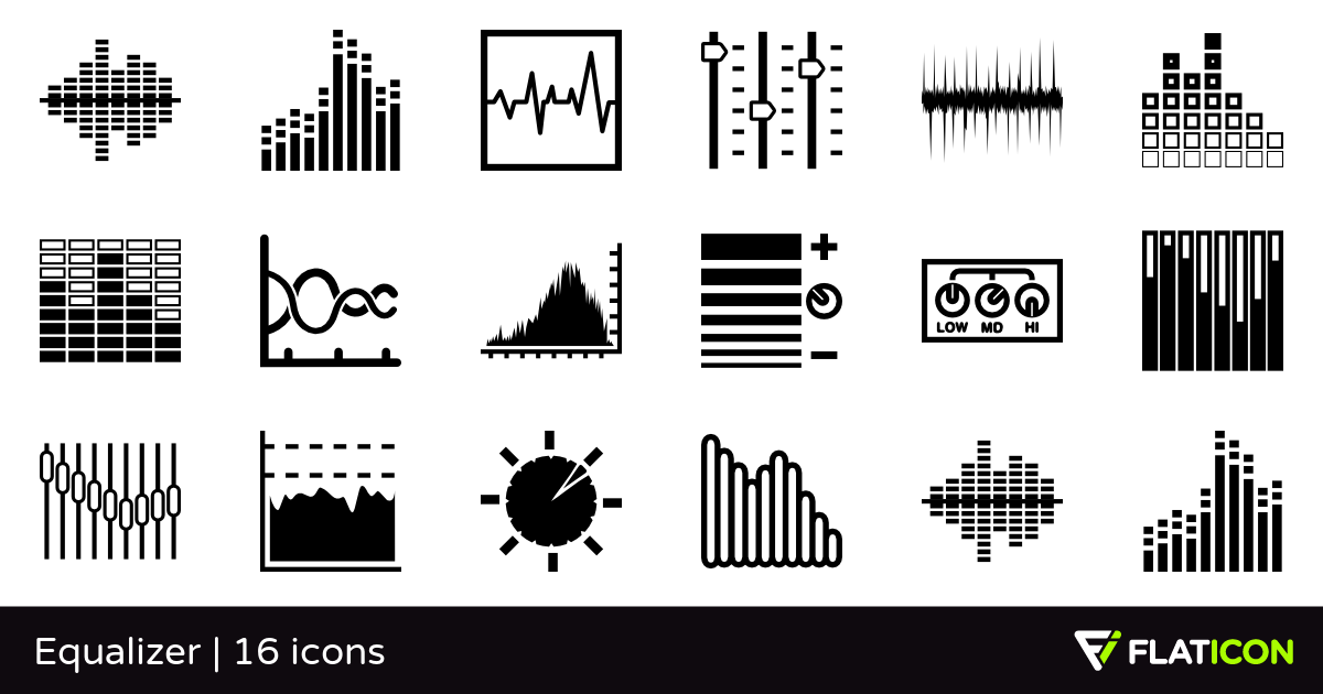 Equalizer 16 free icons (SVG, EPS, PSD, PNG files).