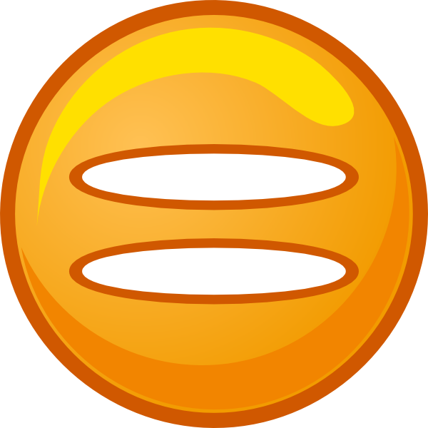 Equals Sign Orange Round Icon Clip Art at Clker.com.