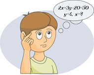 Solving Equations Clipart.