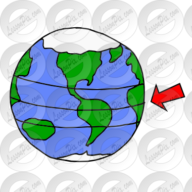 Equator Picture for Classroom / Therapy Use.