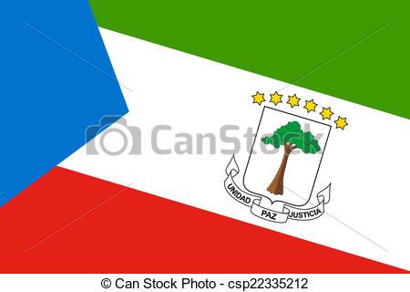 Clipart of Equatorial Guinea Flag csp22335212.