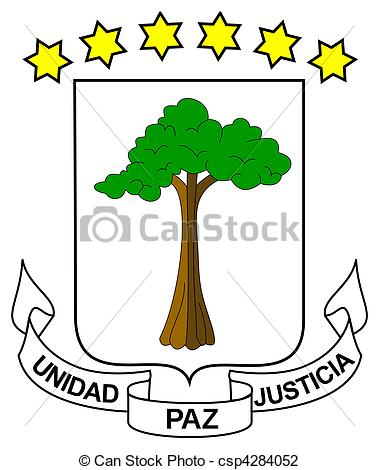 Clip Art of Equatorial Guinea coat of arms, seal or national.