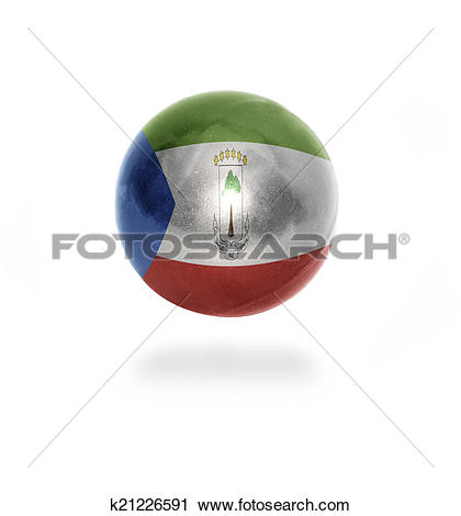 Clipart of Equatorial Guinea Ball k21226591.