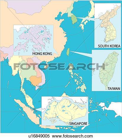 Stock Illustration of land, world, equatorial line, illustration.