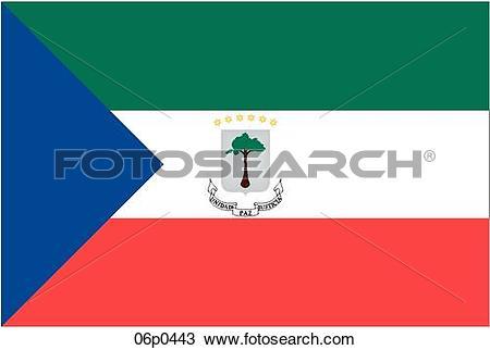 Clipart of equatorial guinea flag 06p0443.