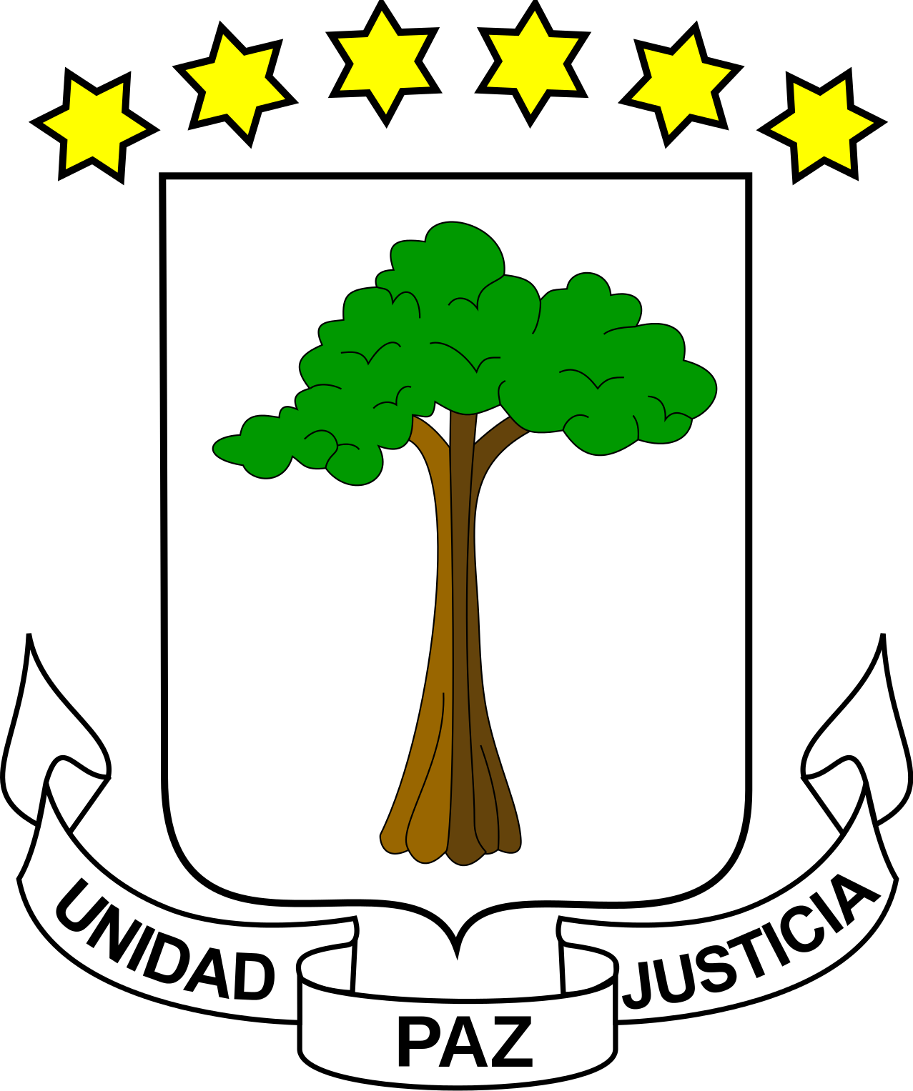 Coat of arms of Equatorial Guinea.