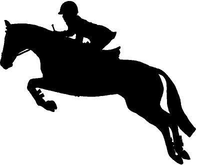 Jumping Horse Silhouette Clip Art.