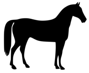 Horse Clip Art Black And White.