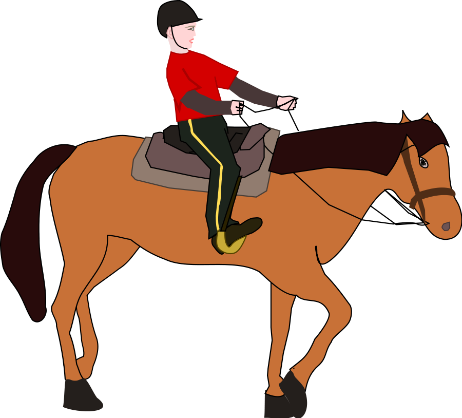 Horse riding clipart #16