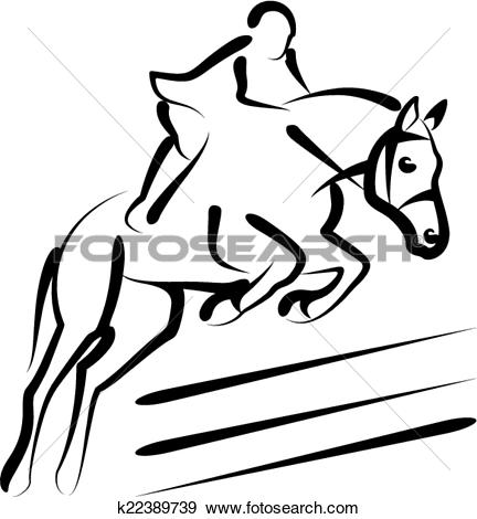 Clip Art of equestrian sport k22389739.