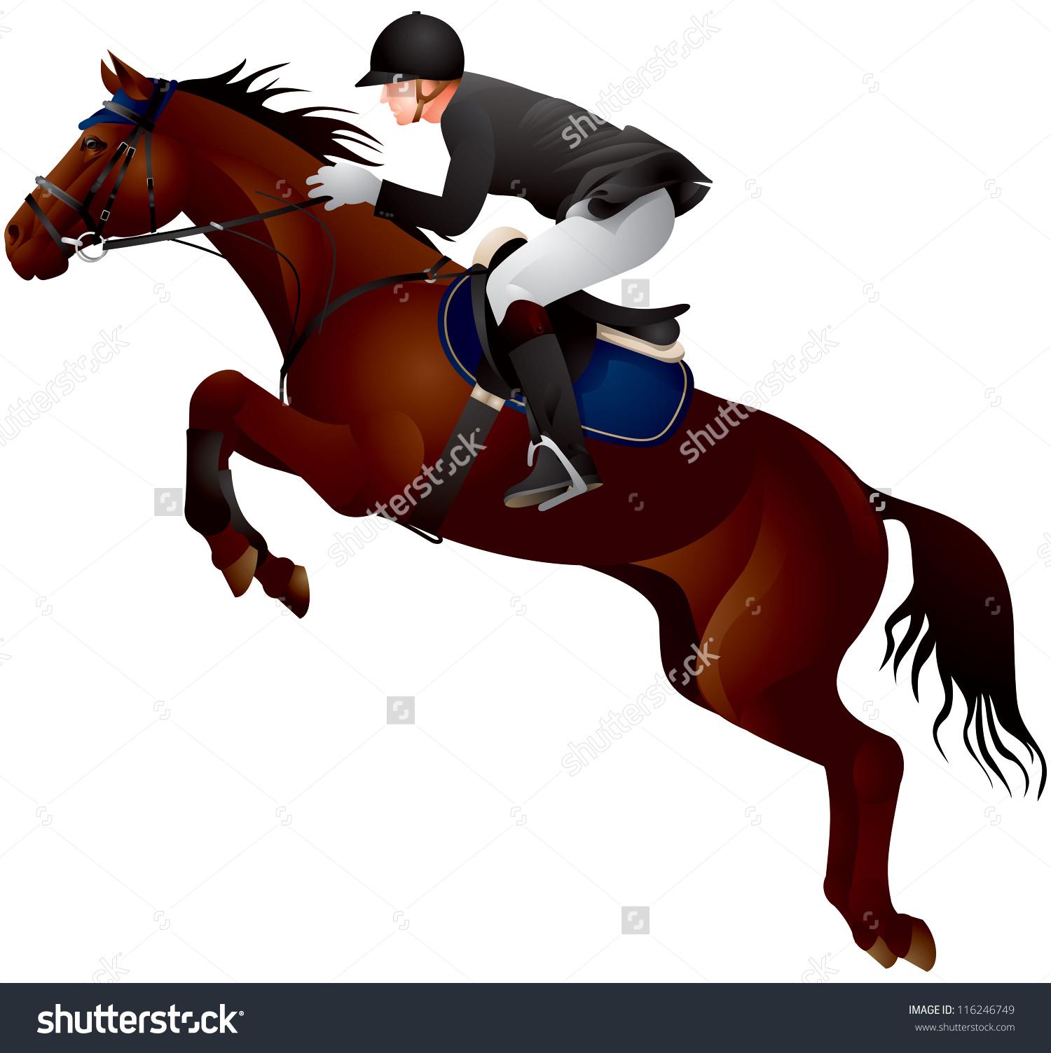 Horse Show Jumping Horse Rider Uniform Stock Vector 116246749.