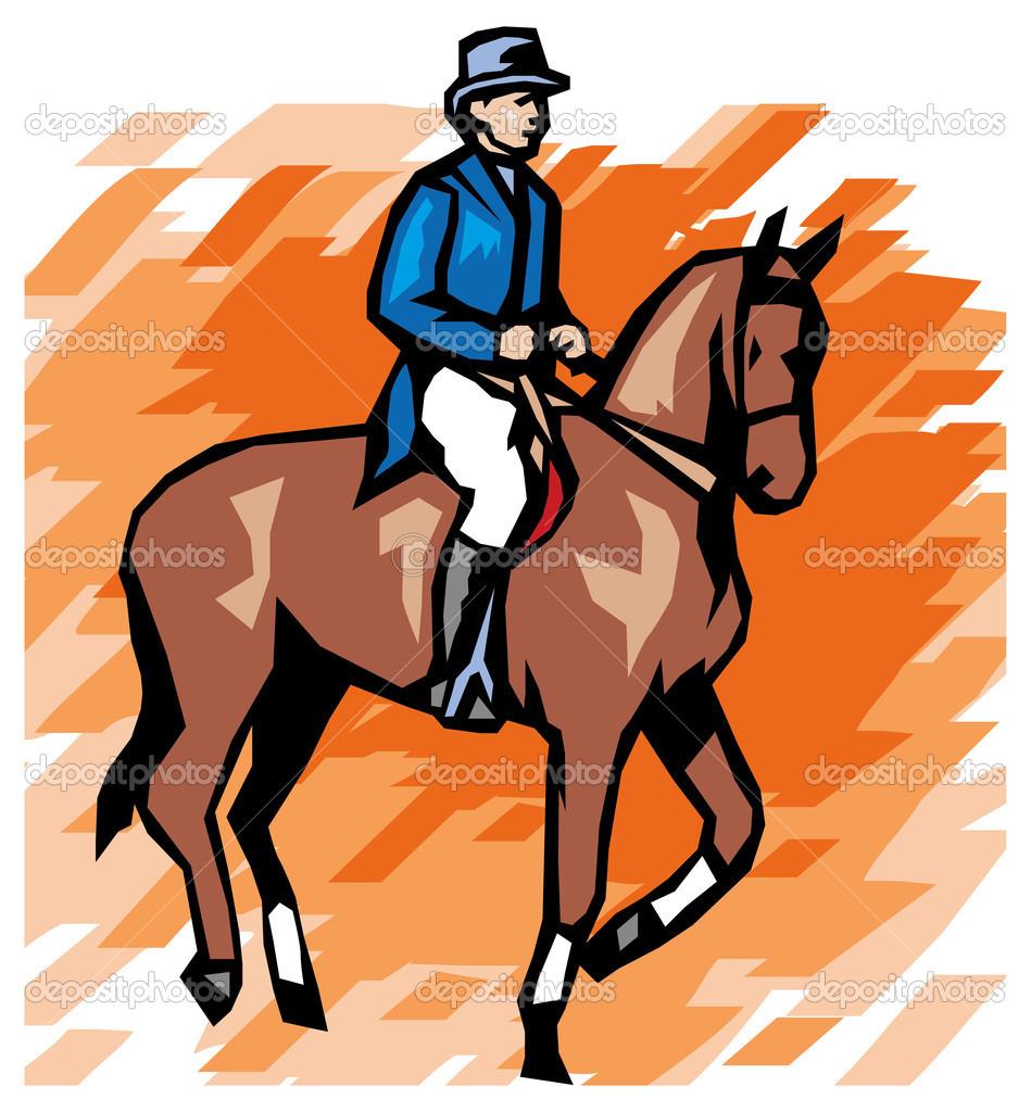 Equestrian sport — Stock Vector © Digital.