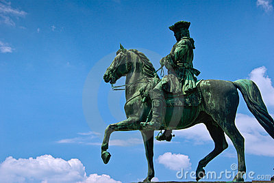 Man on horse statue clipart.