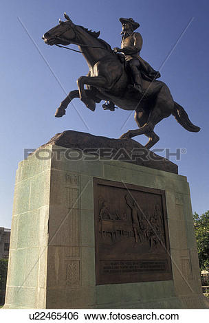 Stock Images of Wilmington, Delaware, Equestrian statue of Caesar.