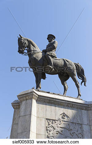 Stock Photo of Turkey, Ankara, Ataturk equestrian statue.