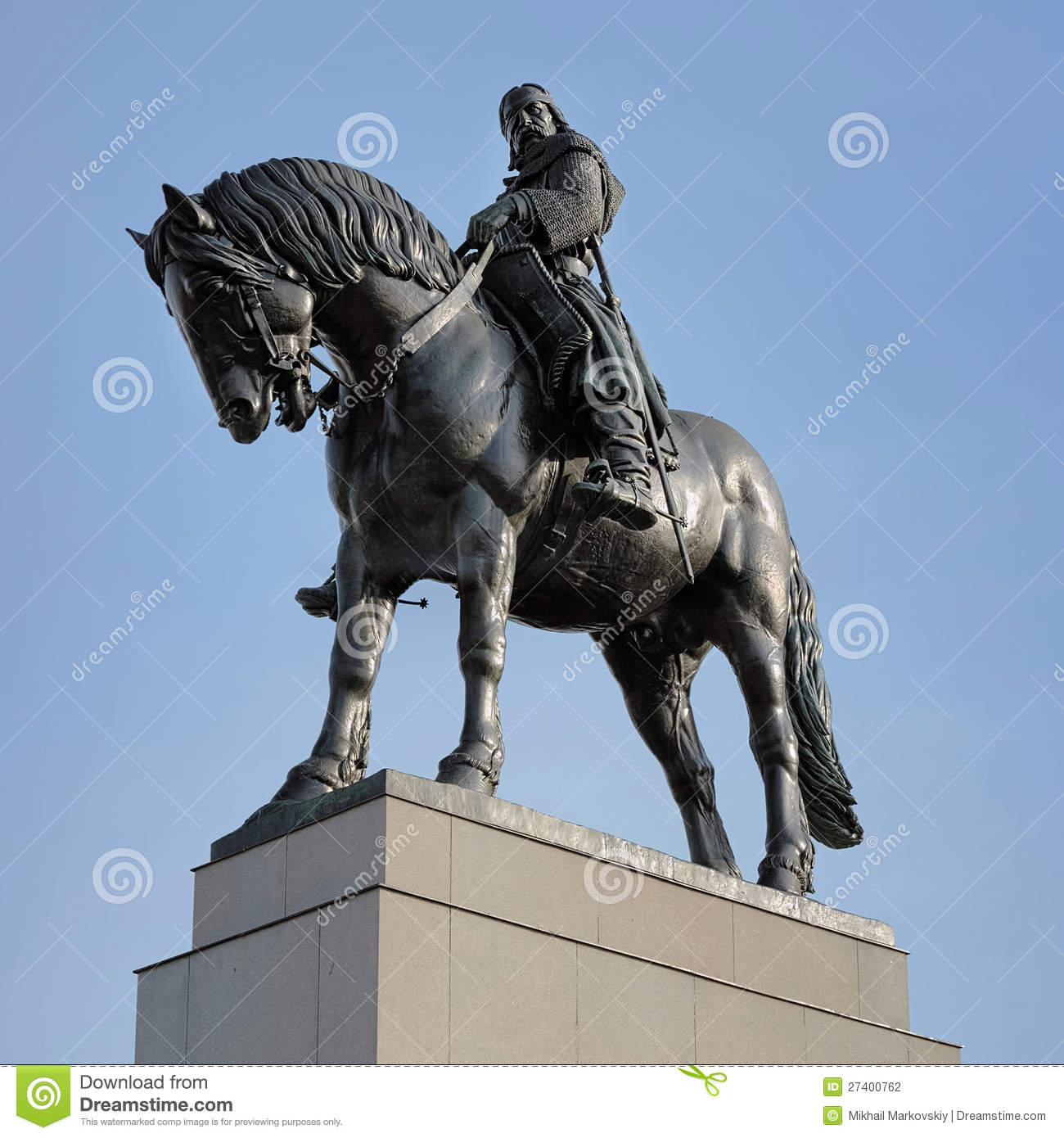 Equestrian Statue Of Jan Zizka In Prague Stock Photography.
