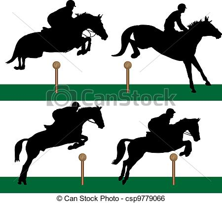 Clip Art Vector of Equestrian.