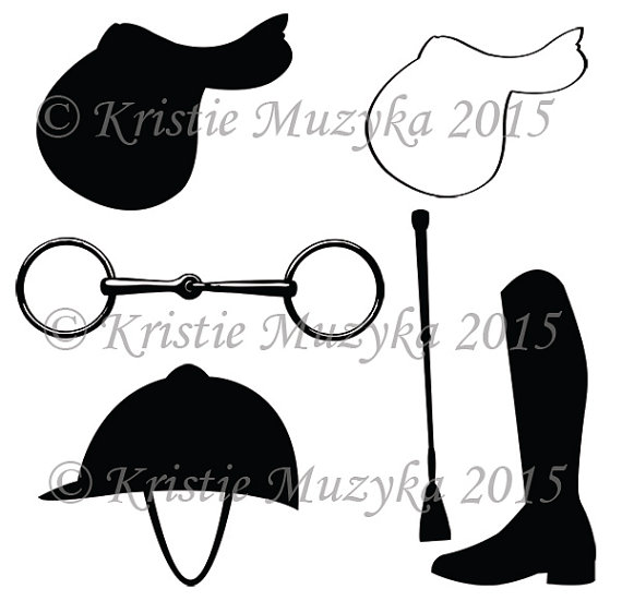 Equestrian Themed Clip Art Digital Download by ZenfulEquineDesigns.