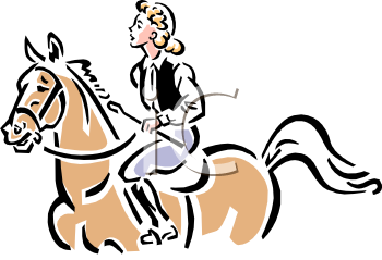 Vintage Equestrian, English Style Clip Art.