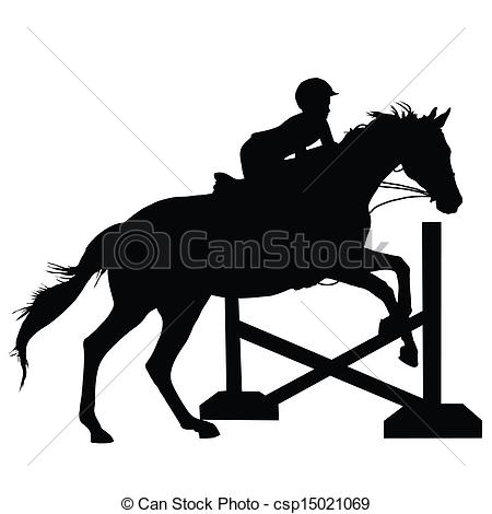Equestrian Jumping Clipart.