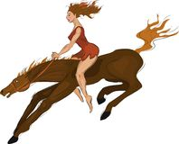 Equestrienne Stock Illustrations.