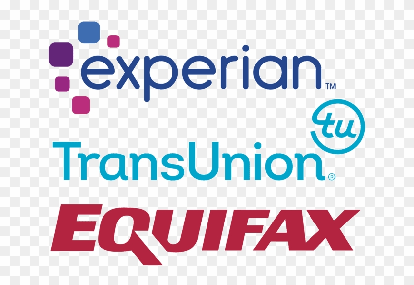 Logos For Experian, Equifax, And Transunion.