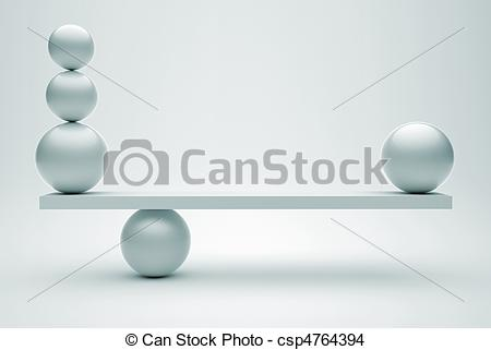 Drawing of Spheres in equilibrium.