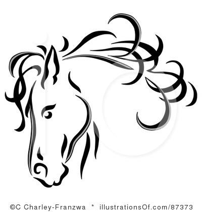 Horse head clip art free.