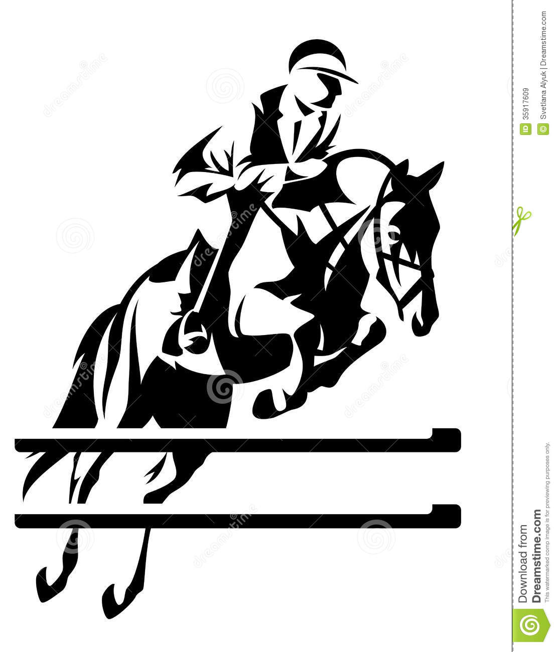 Jumper Horse Clipart.