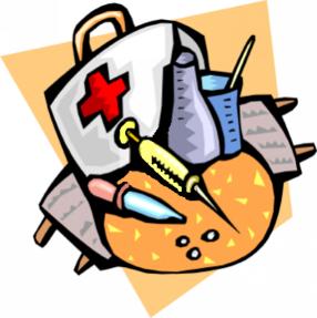Medical equipment clip art.