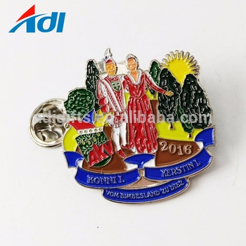Best Selling Custom Enamel Equipo Vision Metal Lapel Pins For Clothes.