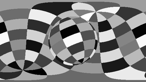 Equirectangular projection.