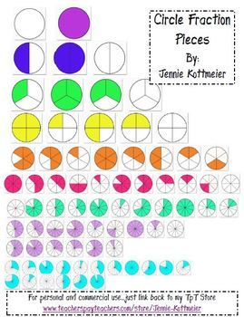 Circle Fraction Pieces (Clip Art).