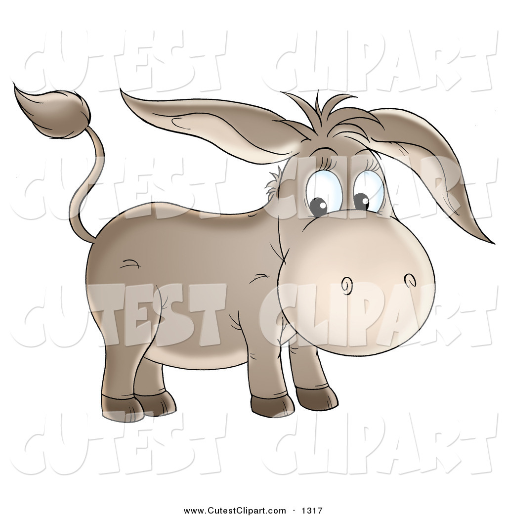 Royalty Free Stock Cute Designs of Equus Asinus.