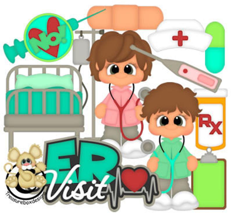 Medical, Hospital, ER, vector graphics, digital clipart, digital images,  scrapbooking, instant download.