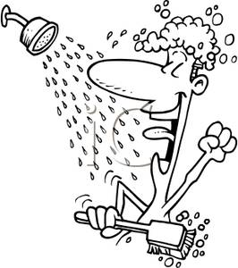 Clip Art Of Someone Showering Clipart.