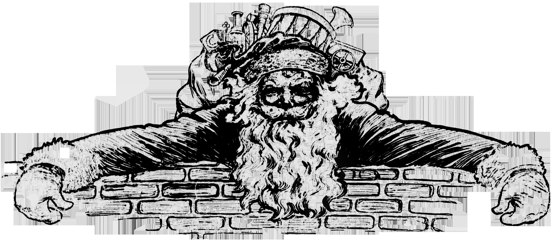 black and white vintage christmas clip art 20 free ...