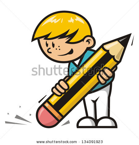 Vector Images, Illustrations and Cliparts: Erase boy.