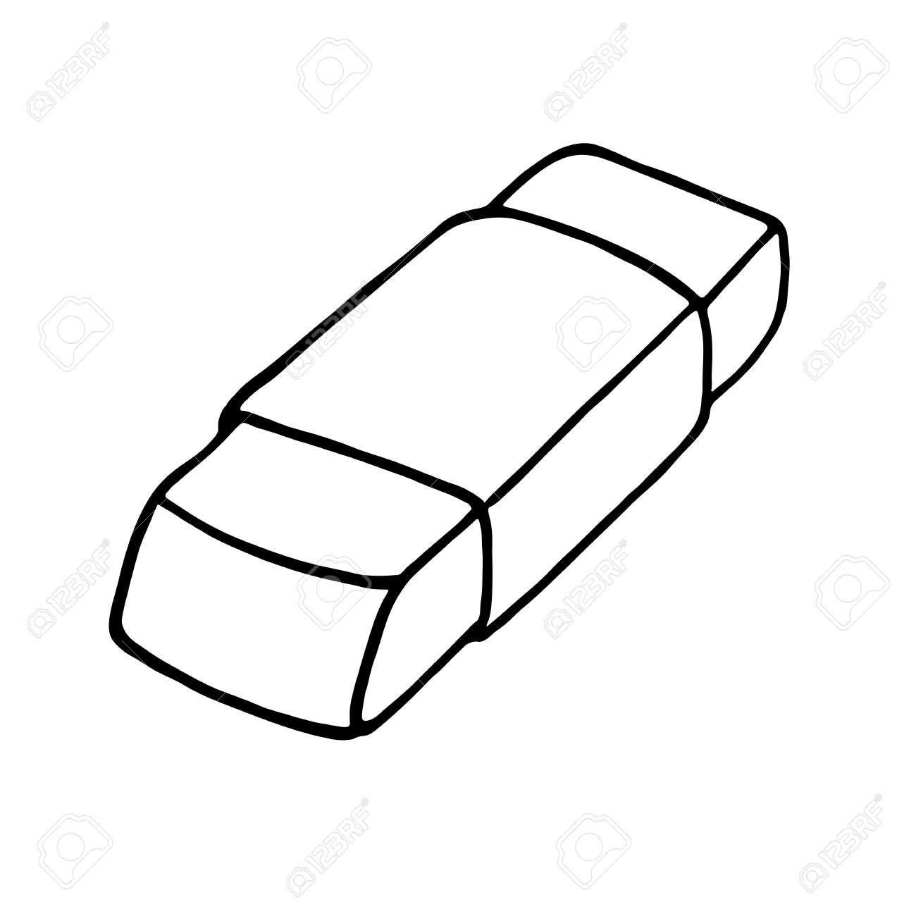 Eraser icon. Outlined » Clipart Station.