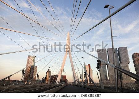 Erasmus Bridge Stock Photos, Royalty.