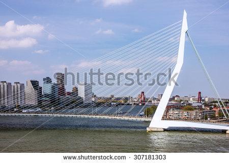Erasmus Bridge Rotterdam Stock Photos, Royalty.