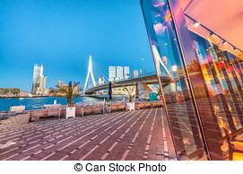 Stock Photos of Erasmus bridge Rotterdam.
