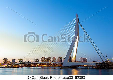 Stock Photographs of Erasmus bridge Rotterdam.