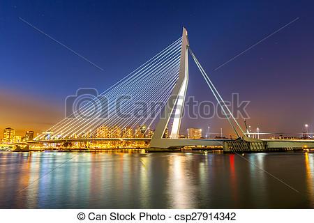 Stock Photo of Erasmus bridge Rotterdam.