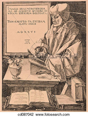 Stock Photo of Erasmus of Rotterdam, humanist of the Renaissance.