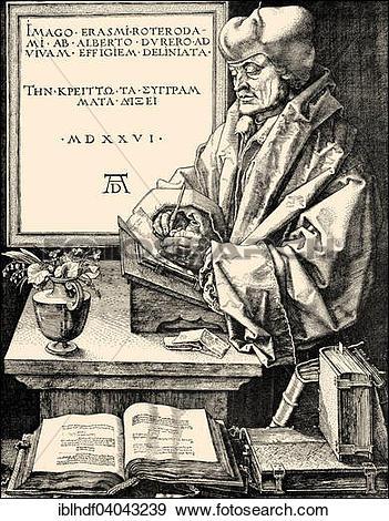 "Stock Photograph of ""Erasmus of Rotterdam, a Dutch humanist."