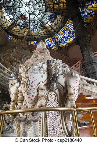 Stock Photography of Erawan sculpture in Bangkok..