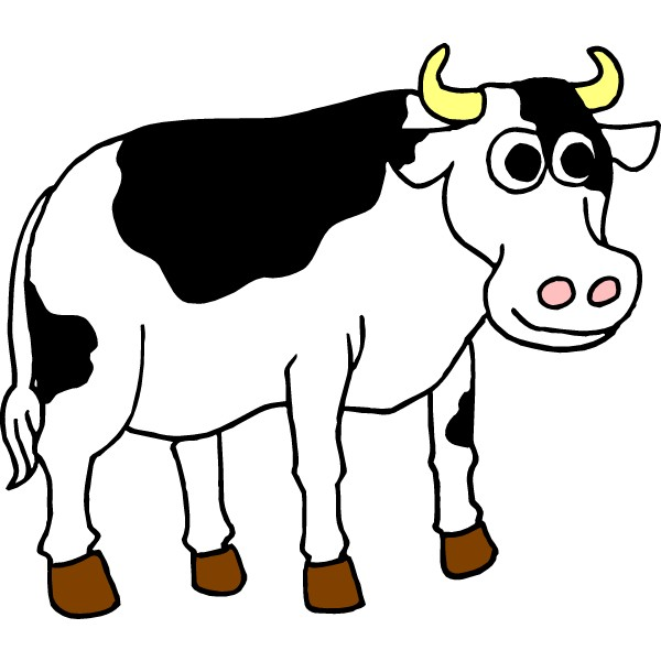 Clip Art Of Cow.