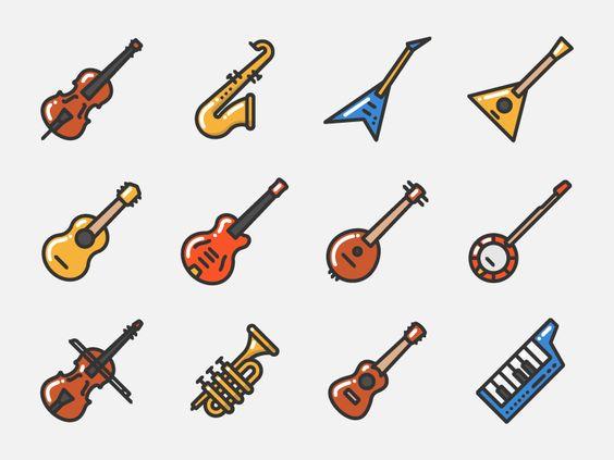Music instruments by Sergey Ershov #Design Popular #Dribbble.