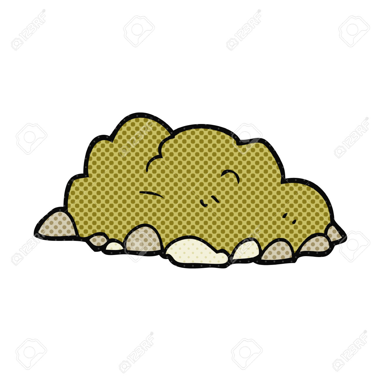 Freehand Drawn Cartoon Pile Of Dirt Royalty Free Cliparts, Vectors.